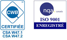 Certifications CWB et ISO 9001